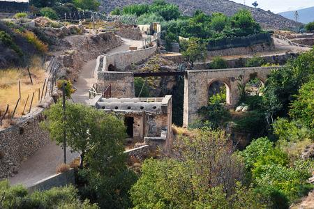 alpujarra: remains of Arab baths and aqueduct, Alpujarra Stock Photo