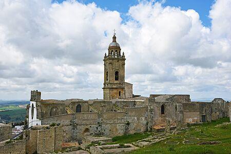 medina: Church of Santa Maria Maggiore, Medina Sidonia, Cadiz Stock Photo