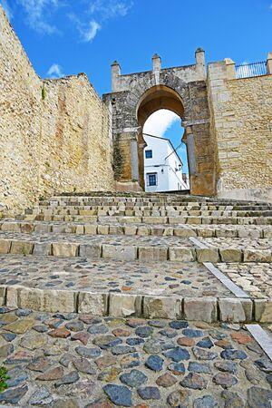 medina: Arab door of Century X in Medina Sidonia, Cadiz.