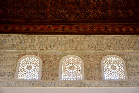 latticework: latticework of plaster of the Qubba of the Palace of the Almajarra, Granada