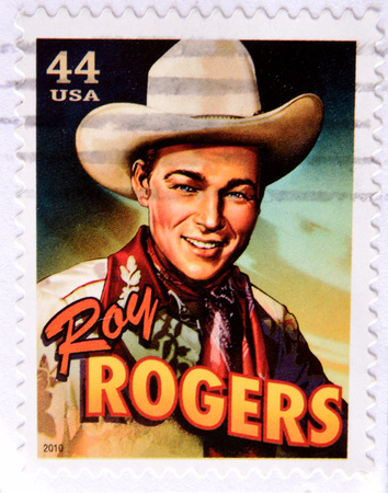 GRANADA, SPAIN - MAY 15, 2016: a stamp printed in USA shows Roy Rogers, 2010