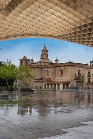 Church of the Incarnation from the main square of Seville