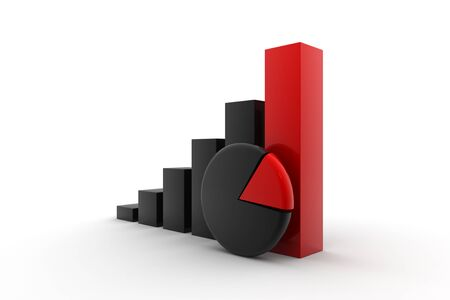 economical: Economical Graph black and red combination Stock Photo