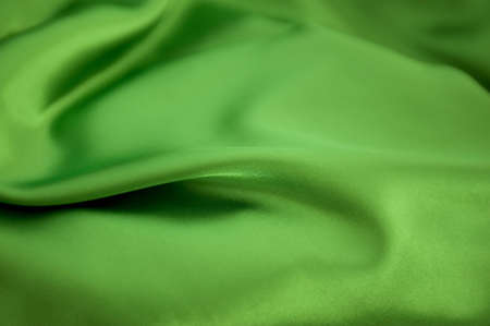 Smooth Green Silk Background photo