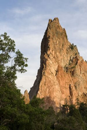 Its a single rock formation in the garden of the gods, Colorado. photo