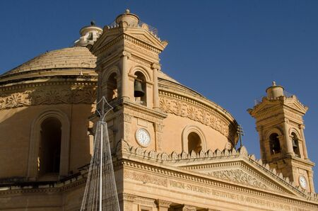 MOSTA, MALTA ,15 DECEMBER 2018 - Mosta Dome Cathedral ( St. Mary church) The Parish Church of Assumption