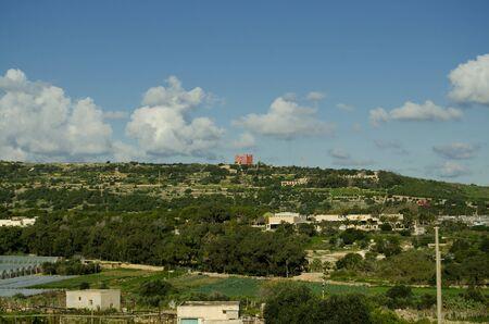 Mellieha, Malta, 30 december 2018 -red tower
