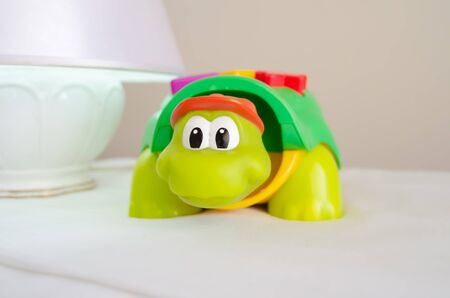 turtle educational toy early development concept close up