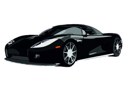 car: vector tuning sports car