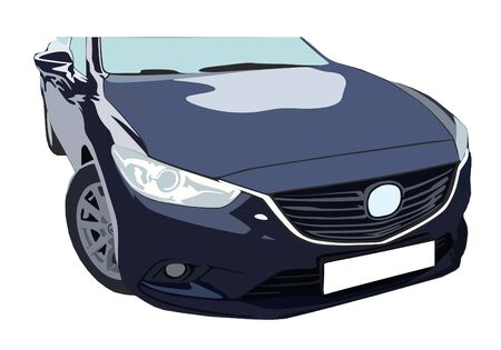 Vector image fast and beautifull sport car Illustration