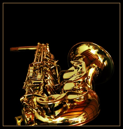 reflektion: Saxophone Stock Photo