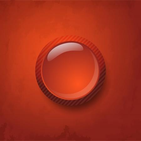 gibbose: Red button Illustration