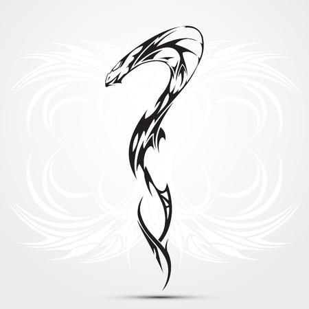 rattlesnake: Snake tattoo Illustration