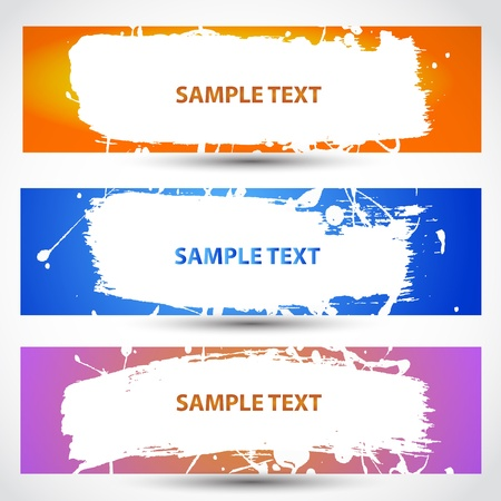 Water paint banner Stock Vector - 16937783