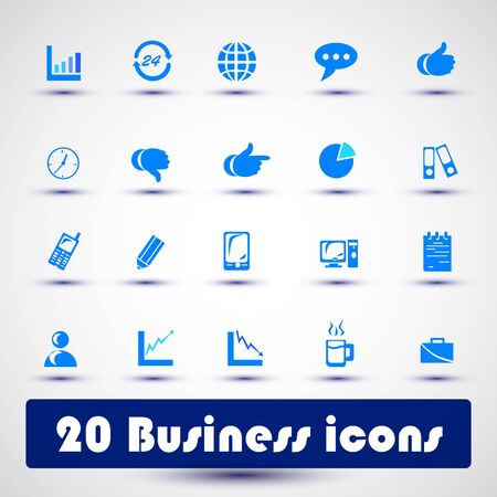 Business icon color for web Vector
