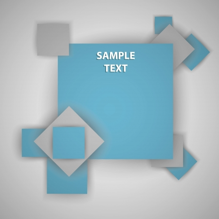 Squares with place for text Stock Vector - 16937804
