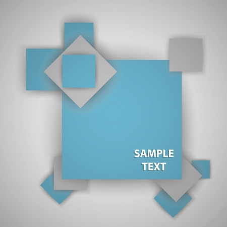 Squares with place for text Stock Vector - 16937805
