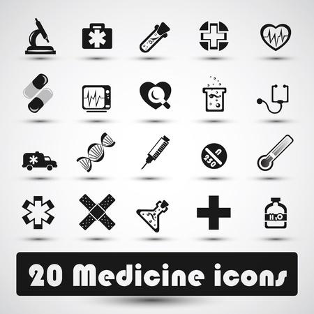 obvaz: Lékařské ikona s tmavě šedou