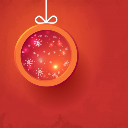 christmas ball place your text Vector