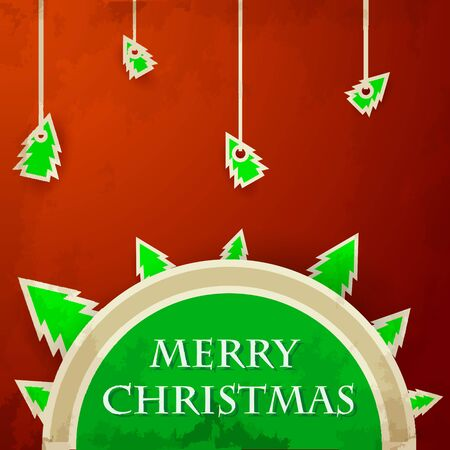 Christmas badge with place text Vector