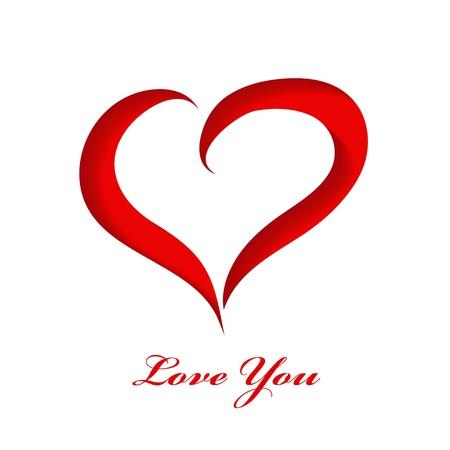 Valentines paper background Illustration