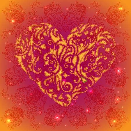 Ornament heart Illustration