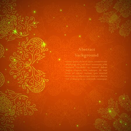 fireflies: abstract flower background. Your presentation Illustration