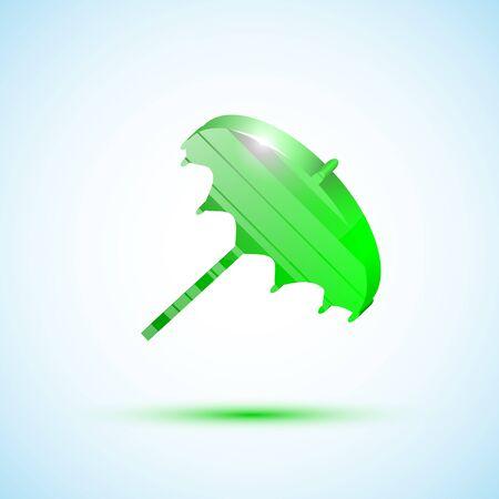 Green icon umbrella