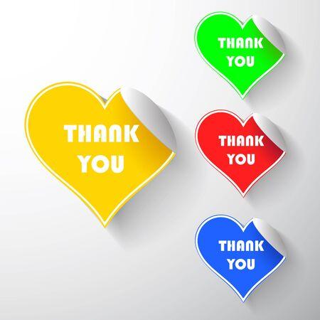 Set heart stickers Stock Photo