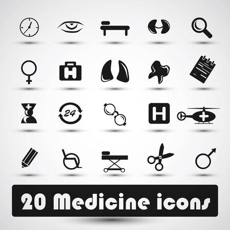 Medicine icons Stock Photo