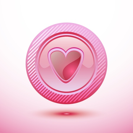 button heart Vector