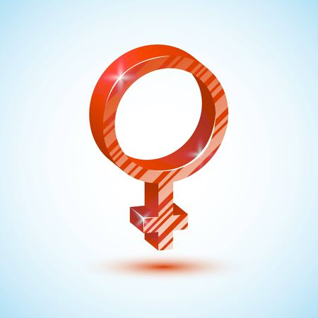 Red mirror of Venus Icon Vector illustration