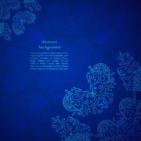 Vintage beige doodle ornament in Indian style background. Vector illustration for your business presentation Illustration