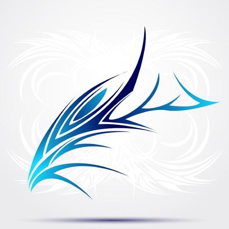 Sharp tribal tattoo. vector illustratie