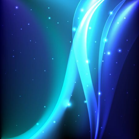 Shiny blue magic abstract background. Illustration