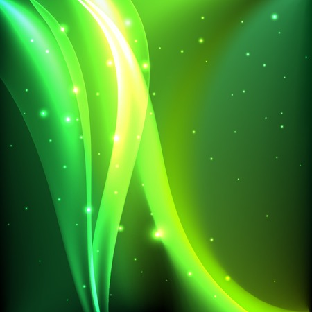 Shiny green abstract background