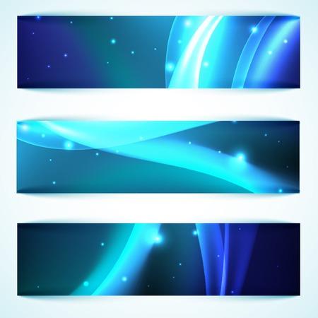 shiny: Shiny blue banners
