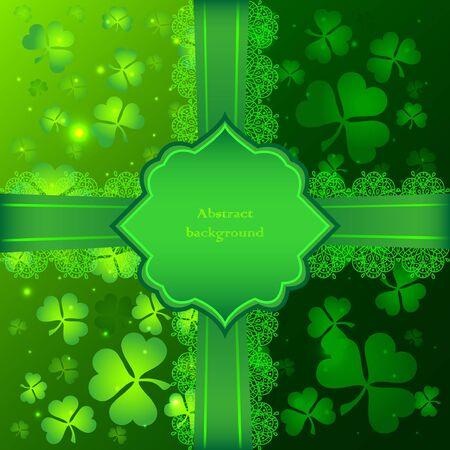 Green vector Saint Patricks Day greeting card