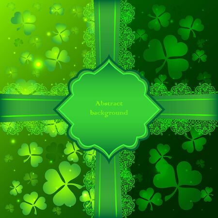 Green vector Saint Patricks Day greeting card