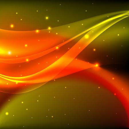 shiny background: Shiny orange abstract background Illustration