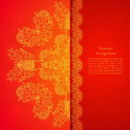 Red ornament background with place for your text Illustration