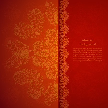 indianische muster: Red Ornament Hintergrund mit Funken Illustration