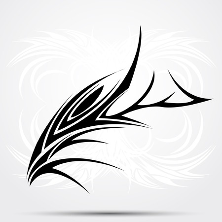 Tribal tattoo Ilustración de vector
