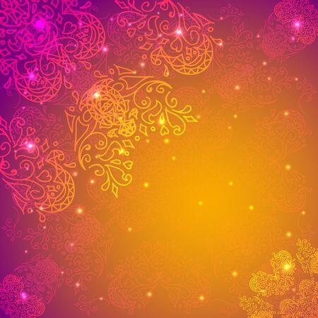 Orange abstract flower background. Your presentation
