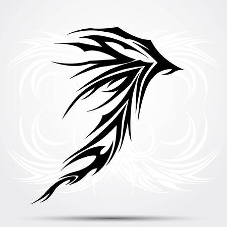 celtic tattoo: Black celtic tattoo. Tribal for tattoo saloons.