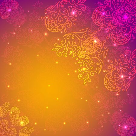 Abstract flower background. Vector illustration