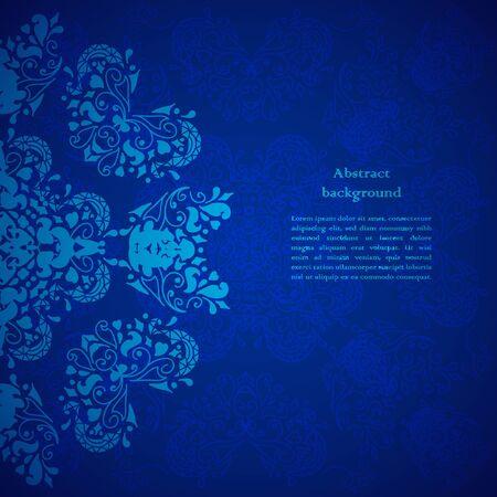 Blue floral background. For presentation