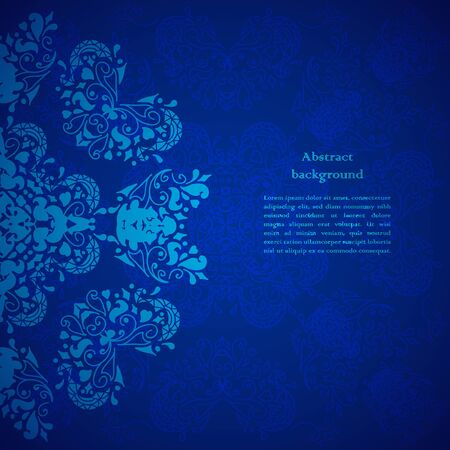 Blue floral background. For presentation