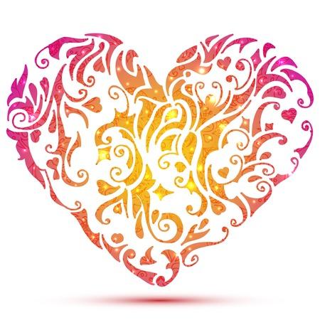 Abstract Valentines heart. Vector illustration
