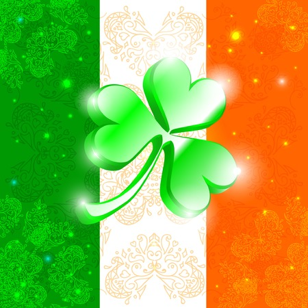 Happy Patrick day flag. Vector illustration Illustration